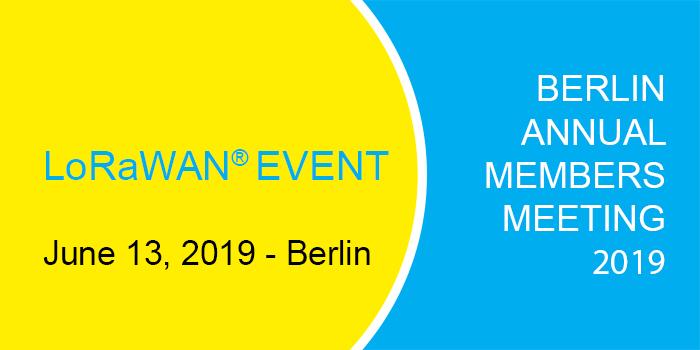 Berlin 2019 LoRa Alliance meeting